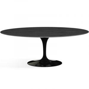 Стол обеденный черный овальный