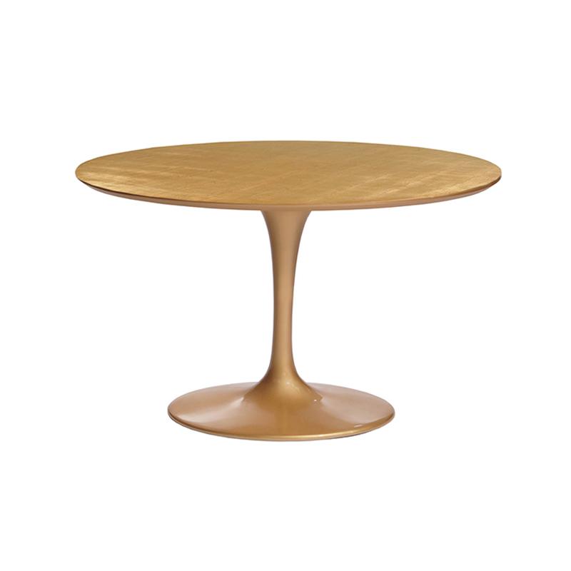 Роскошный золотой стол круглый