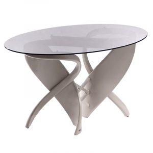 Обеденный стол для кухни из гнутого натурального дерева