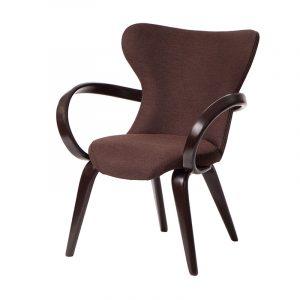 стул дизайнерский коричневый из дерева