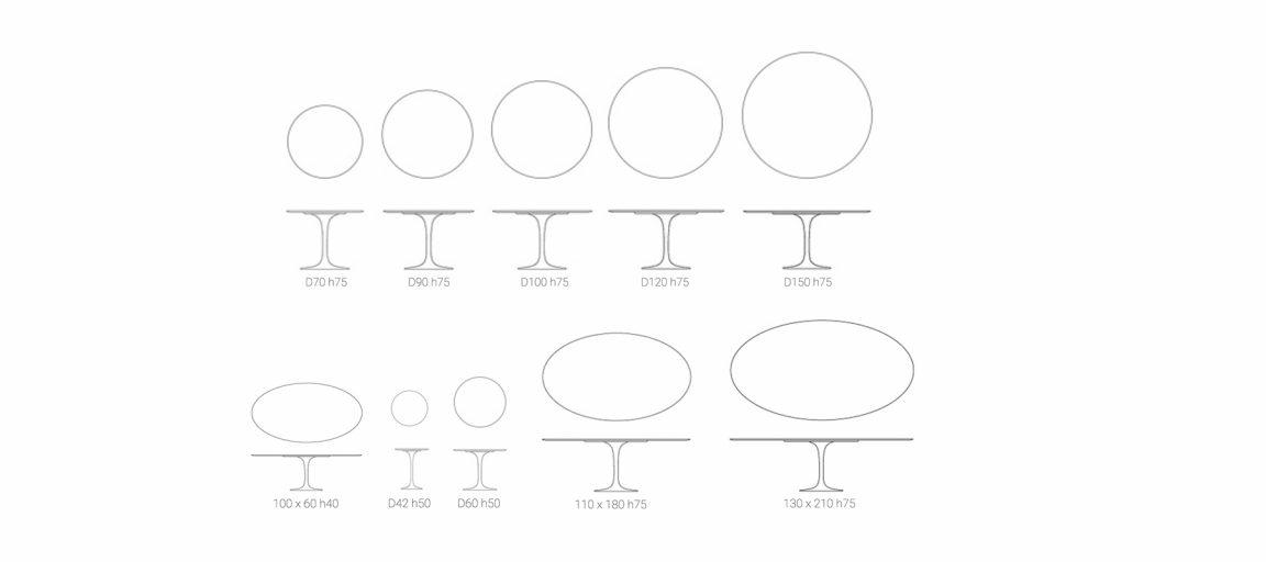 Стильный столы Тулип (Tulip)