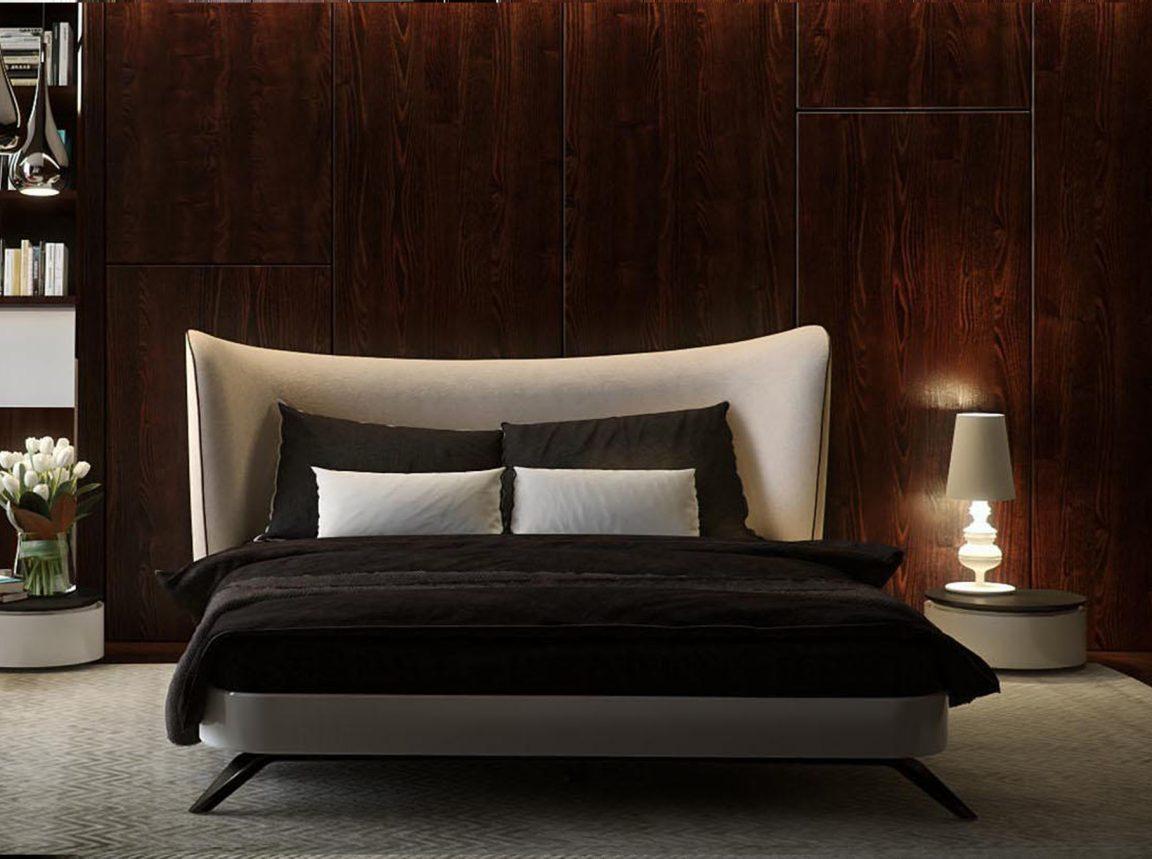 Уникальная двуспальная кровать белая