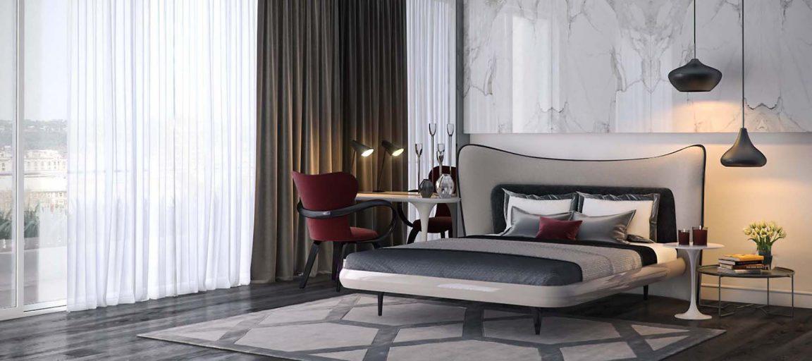 Красивая спальня в стиле модерн