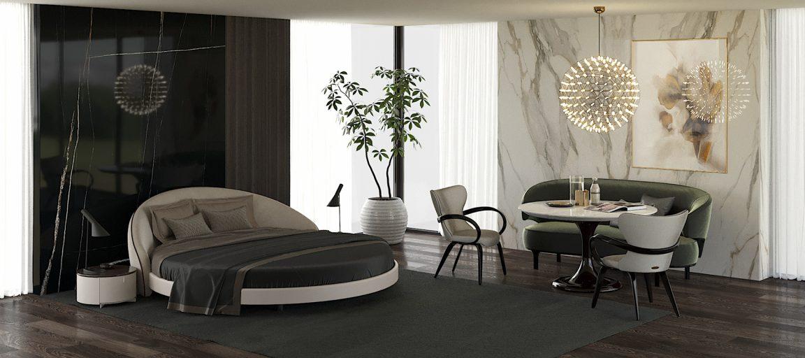 Удивительная кровать круглой формы