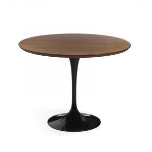 Кофейный круглый стол на одной ножке из дерева для кухни