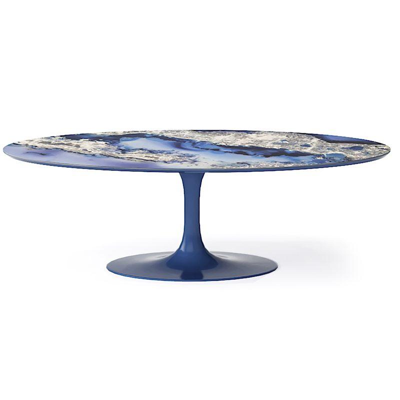 Восхитительный синий стол из мрамора