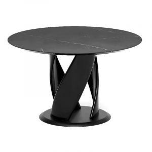 Овальный обеденный стол для гостиной в стиле модерн