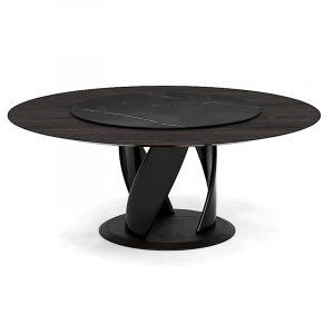 Оригинальный круглый стол черный