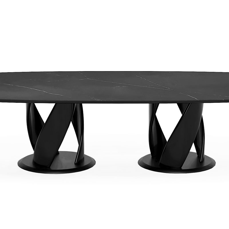 Красивый большой стол овальный