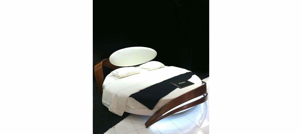 Модная круглая кровать двуспальная