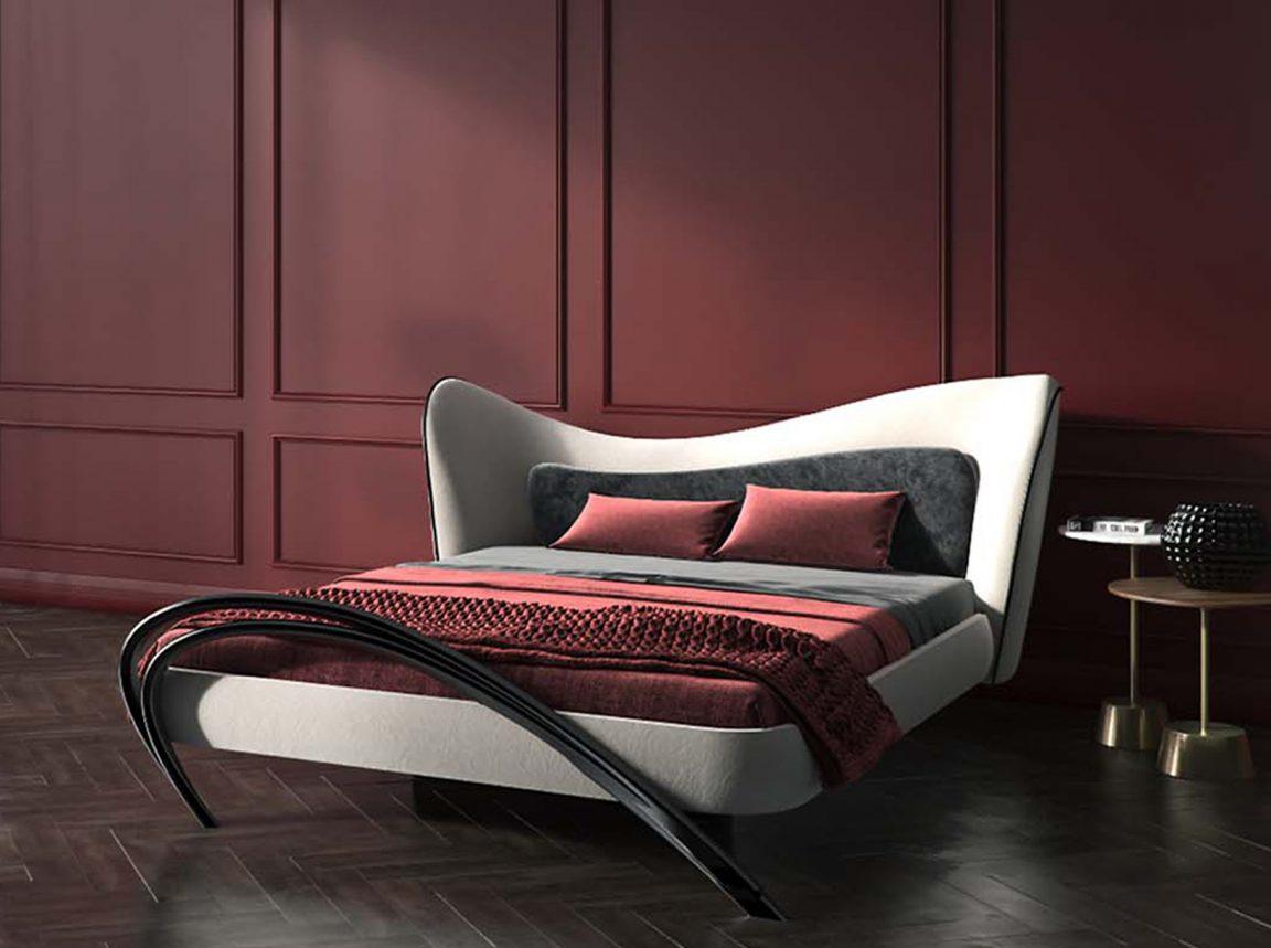 Шикарная кровать во французском интерьере