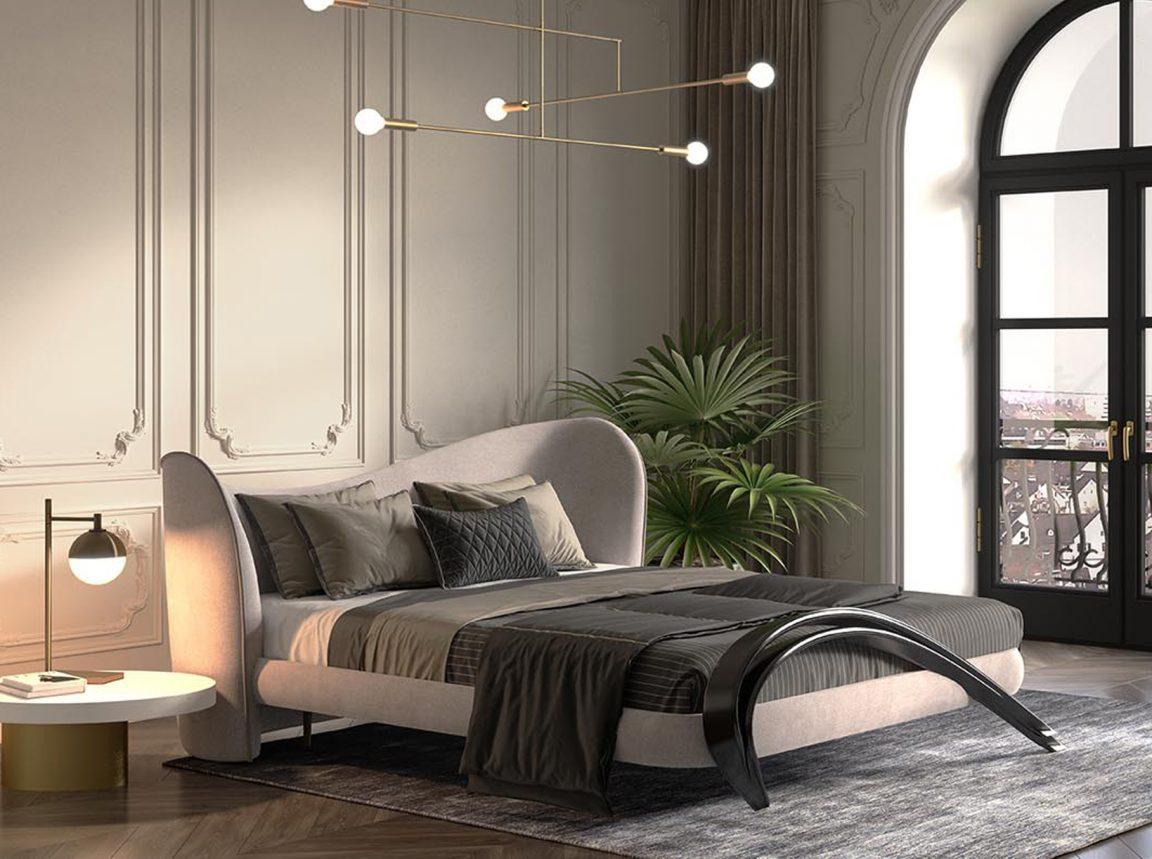 Интересная кровать с красивым дизайном