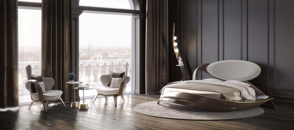 Очаровательная кровать круглой формы