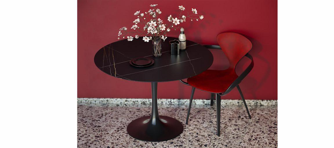 Элегантный черный стол Тулип