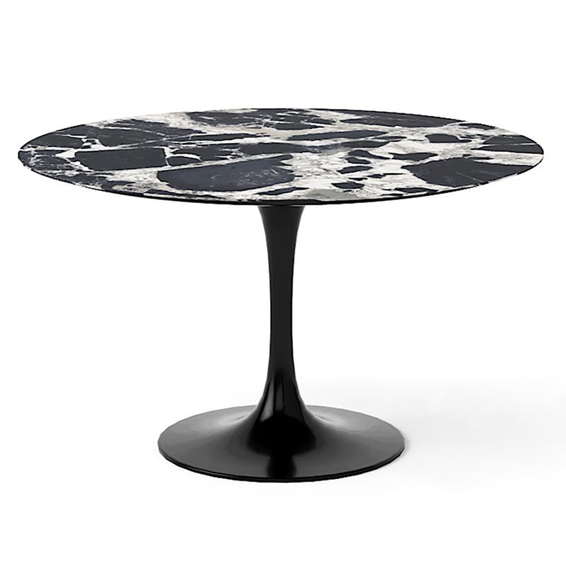 Большой обеденный обеденный стол из мрамора для кухни