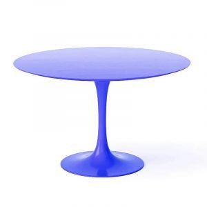 Круглый синий стол Tulip