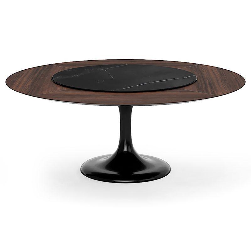 Круглый стол Тулип черный