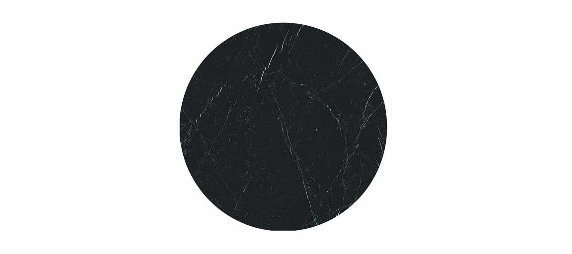 Красивый черный стол Тулип