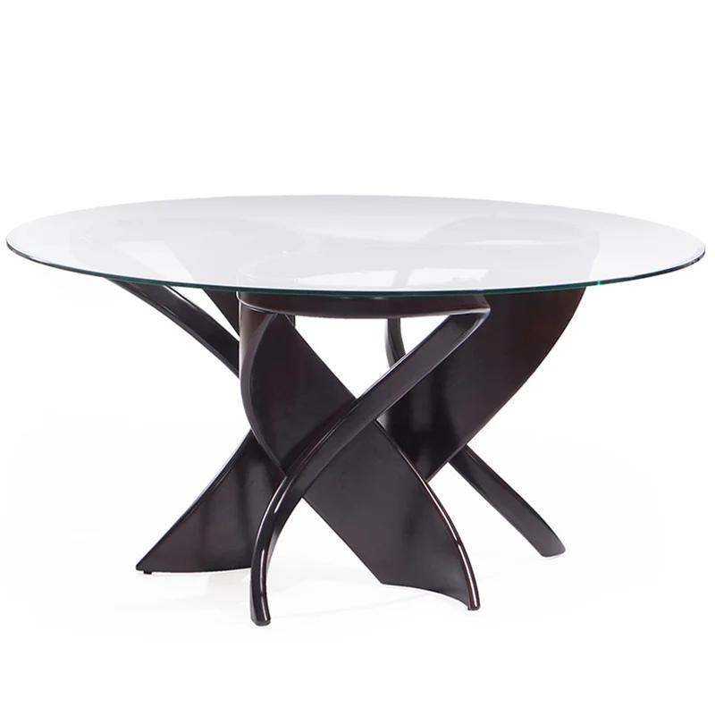 Стол стеклянный обеденный овальный