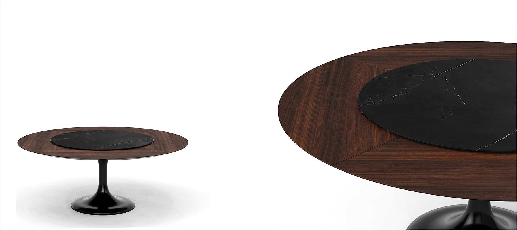 Овальный обеденнй стол на одной ножке