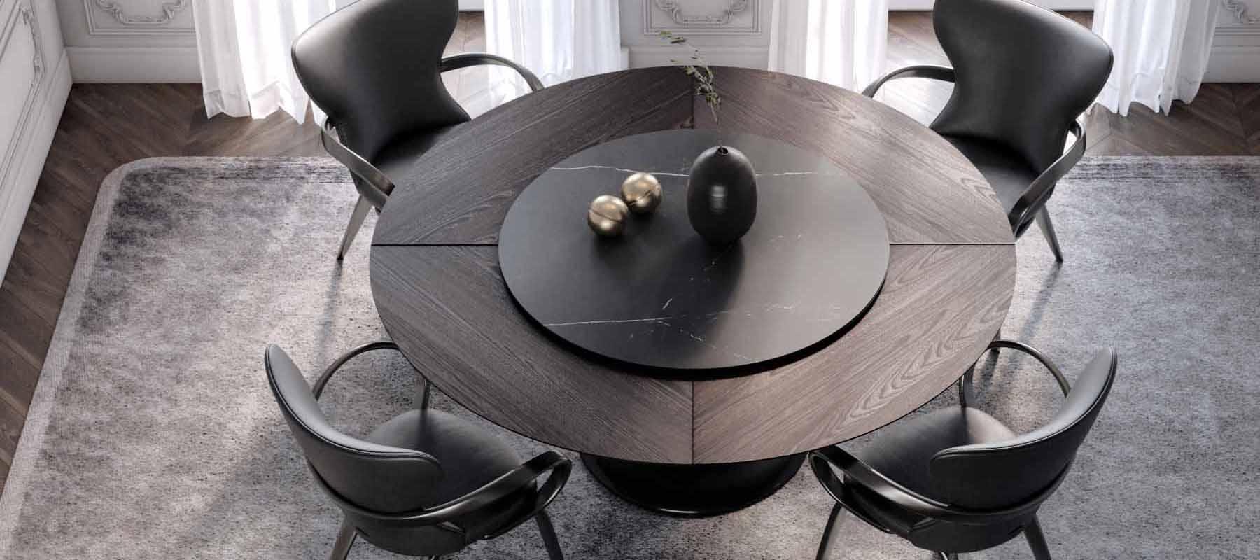 круглый стол на одной ножке из массива