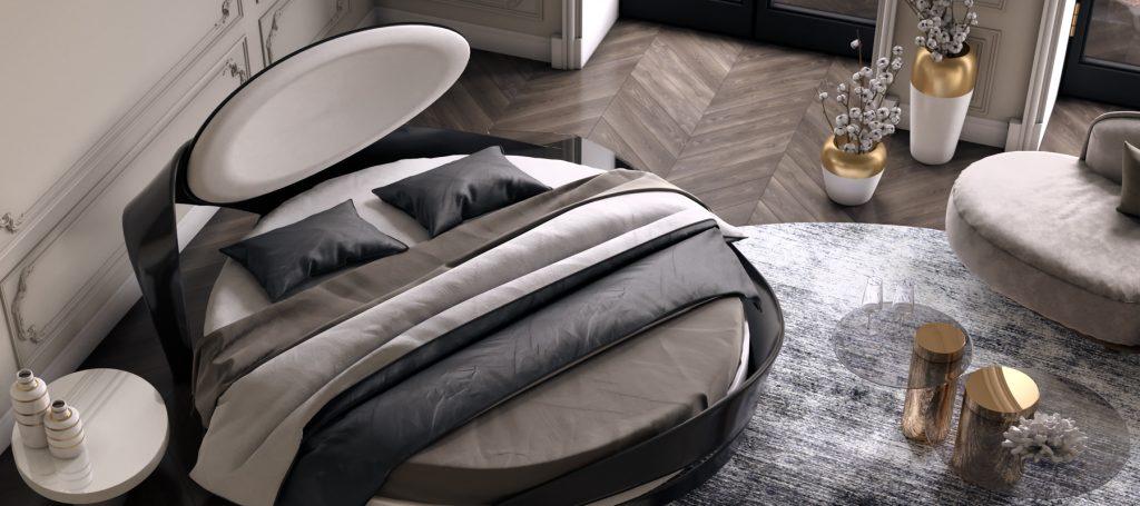 Дизайнерская большая кровать из массива