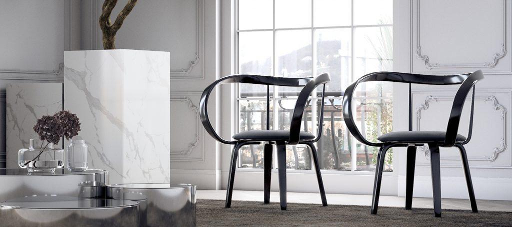 Красивый авторский стул с подлокотниками