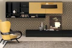 черно желтая гостиная с креслом_fin